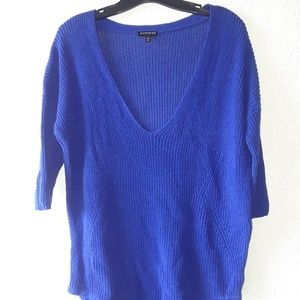 EXPRESS Blue knit sweater